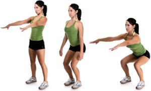 Squat Exercise fitness zone